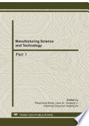 Manufacturing Science and Technology, AEMT2011