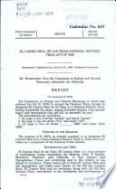 El Camino Real de Los Tejas National Historic Trail Act of 1998