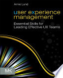 User Experience Management Book