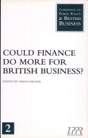 Could Finance Do More for British Business?