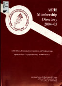 ASHS Membership Directory Book