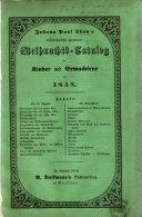 J. P. Thun's wissenschaftlich geordneter Weihnachts-Catalog für Kinder und Erwachsene auf 1848