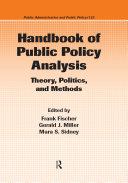 Handbook of Public Policy Analysis