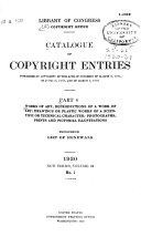 Catalog of Copyright Entries  Part 4  Works of Art  Etc  New Series