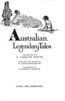 Australian Legendary Tales  Collected by K  Langloh Parker Book