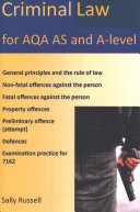 Criminal Law for Aqa as and A Level