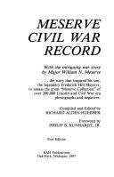 Meserve Civil War Record