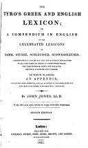 Pdf The Tyro's Greek and English Lexicon