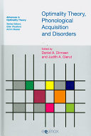 Optimality Theory  Phonological Acquisition and Disorders