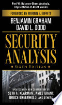 Security Analysis  Sixth Edition  Part VI   Balance Sheet Analysis  Implications of Asset Values