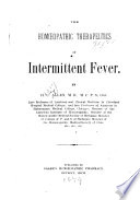The Homœopathic Therapeutics of Intermittent Fever