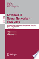 Advances in Neural Networks Isnn 2009