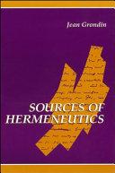 Sources of Hermeneutics