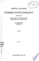 Studies in Psychology from the William Allan Neilson Research Laboratory