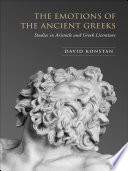 The Emotions of the Ancient Greeks Book