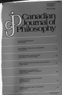 Canadian Journal of Philosophy Book