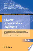 Advances in Computational Intelligence, Part IV