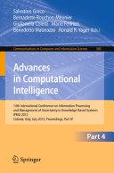Advances in Computational Intelligence  Part IV