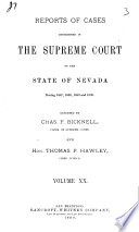 Reports of Cases Determined in the Supreme Court of the State of Nevada