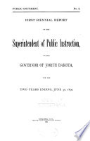 Biennial Report of the Superintendent of Public Instruction