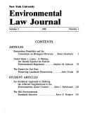 New York University environmental law journal