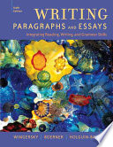 """Writing Paragraphs and Essays: Integrating Reading, Writing, and Grammar Skills"" by Joy Wingersky, Janice K. Boerner, Diana Holguin-Balogh"