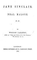 Jane Sinclair. Neal Malone. &c. &c. [Selected tales.]