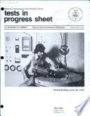 Tests in Progress Sheet