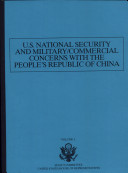 U. S. National Security and Military/Commercial Concerns with the People's Republic of China Pdf/ePub eBook