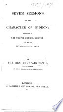 Seven sermons on the character of Gideon Book PDF
