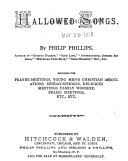 HALLOWED SONGS DESIGNED FOR PRAYER-MEETINGS, YOUNG MENS CHRISTIAN ASSOCIATIONS, SUNDAY-SCHOOLS