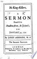 No King Killers  a sermon  etc Book