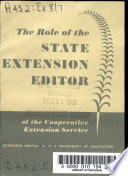 The Role Of The State Extension Editor Of The Cooperative Extension Service