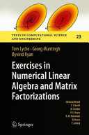 Exercises in Numerical Linear Algebra and Matrix Factorizations