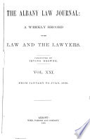 The Albany Law Journal Book PDF