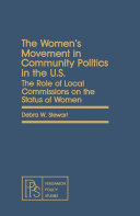 The Women s Movement in Community Politics in the US