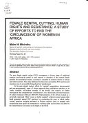 Female Genital Cutting, Human Rights and Resistance