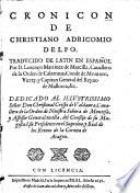 Cronicon. Traducido de latin en espanol por D. Lorenco Martinez de Marcilla
