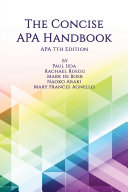 The Concise APA Handbook Pdf/ePub eBook
