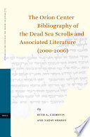The Orion Center Bibliography Of The Dead Sea Scrolls And Associated Literature Book