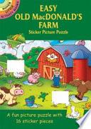 Easy Old MacDonald s Farm Sticker Picture Puzzle