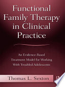 Functional Family Therapy In Clinical Practice Book PDF