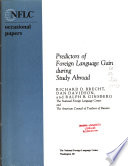 Predictors of Foreign Language Gain During Study Abroad