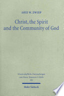 Christ, the Spirit and the Community of God