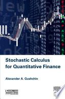 Stochastic Calculus for Quantitative Finance Book