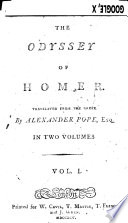 The Odyssey Of Homer Translated From The Greek By Alexander Pope Etc