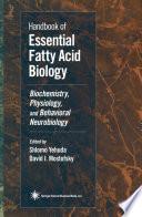 Handbook of Essential Fatty Acid Biology