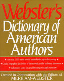 Webster s Dictionary of American Authors