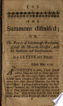 The Summons Dismiss'd