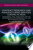 Contract Research And Manufacturing Services Crams In India Book PDF